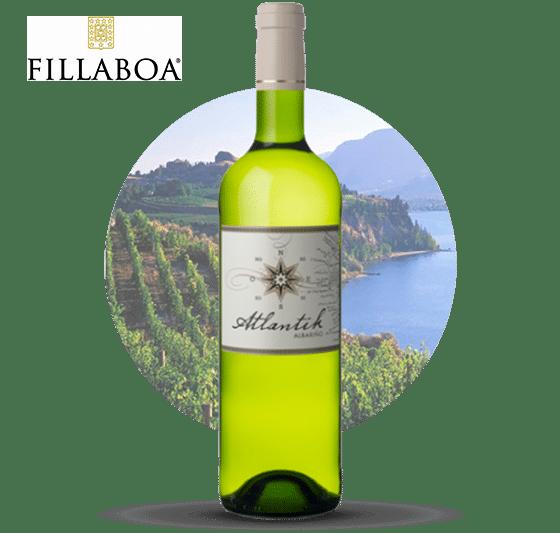 Botella de vino Albariño Fillaboa